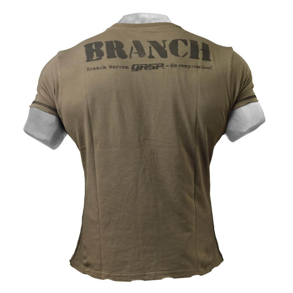 Branch SPP Rough Tee Wash Green Back