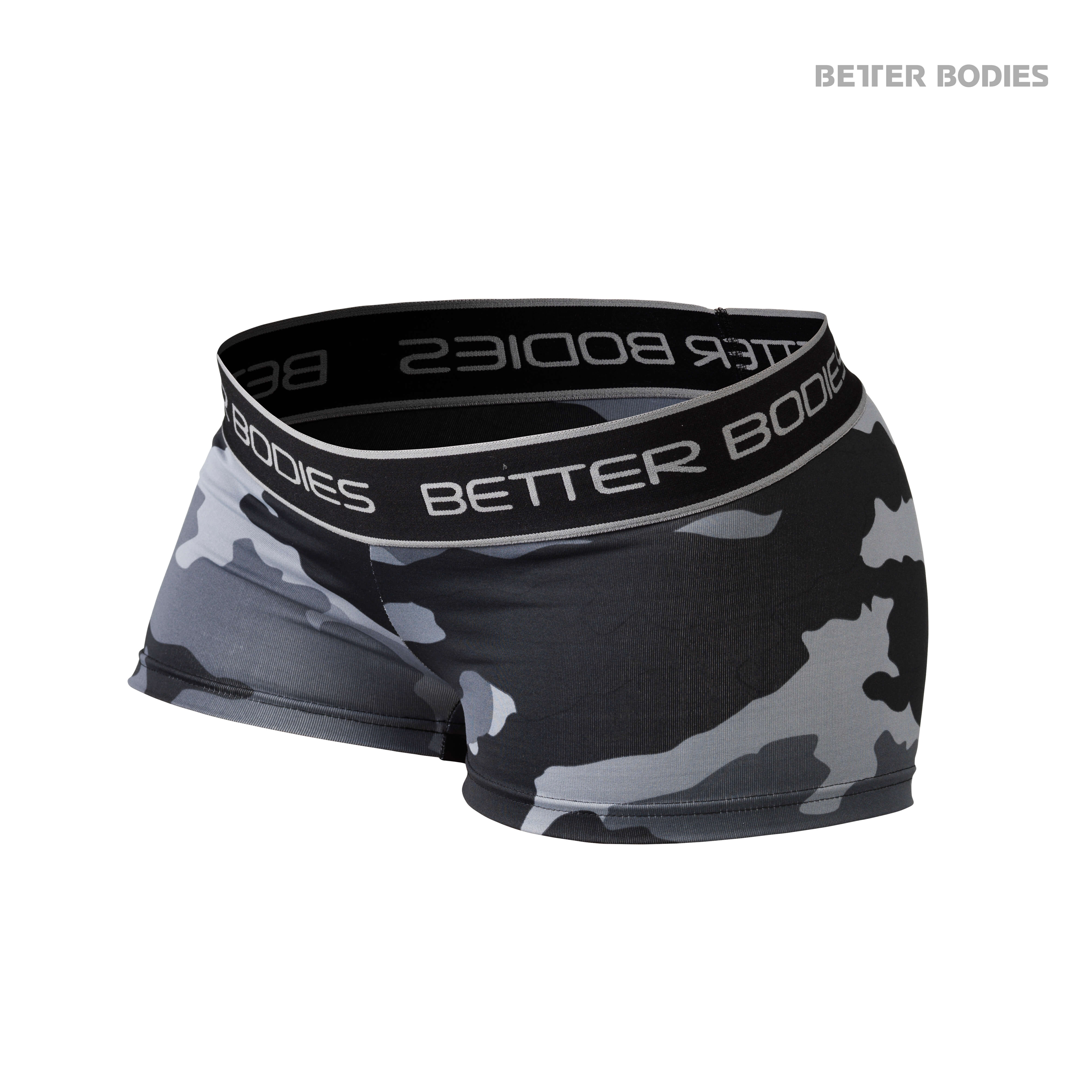 Fitness Hotpant Grey Camo Front