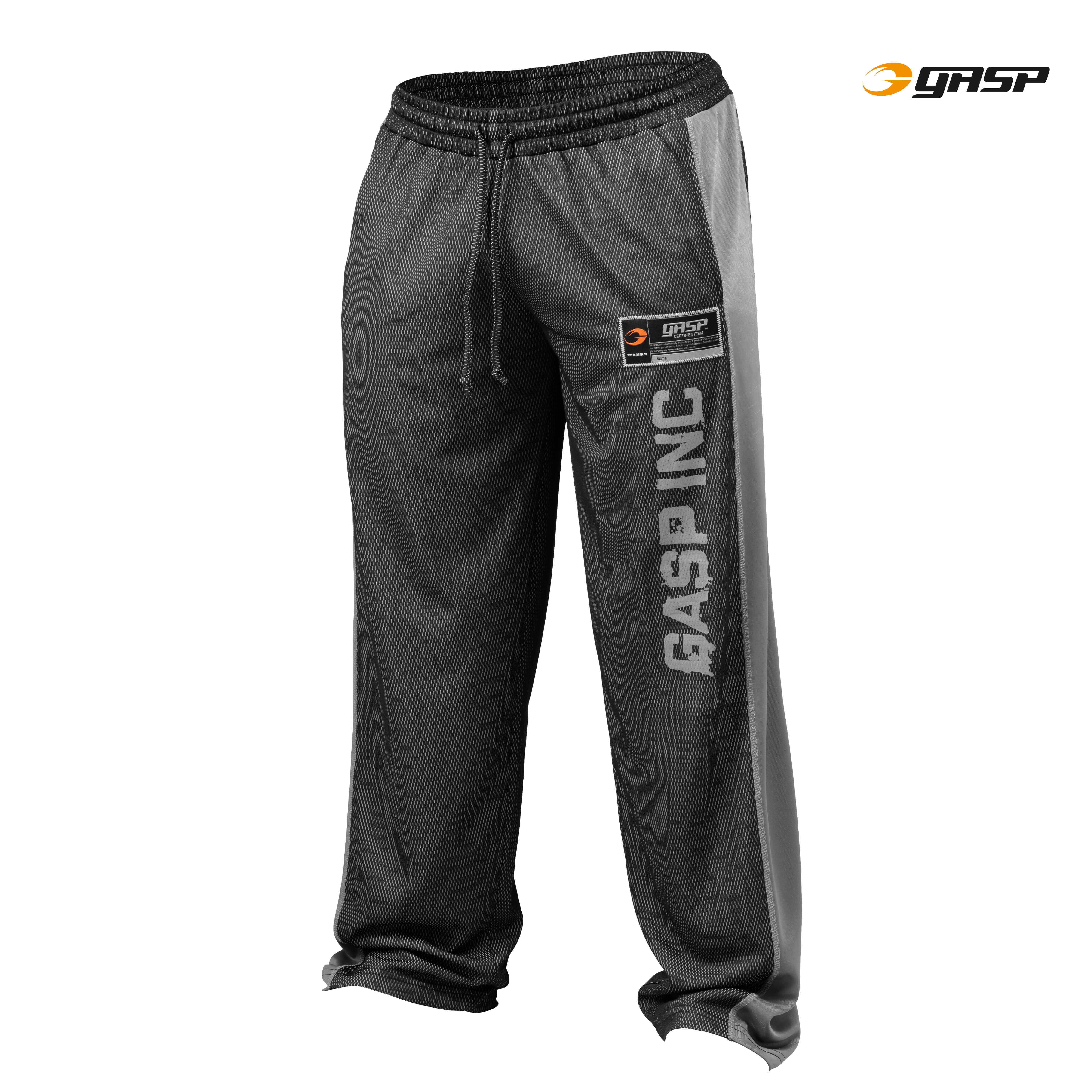 No.1 Mesh Pants Black-Grey Front