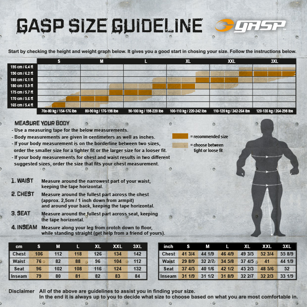 gasp-measurement-guide